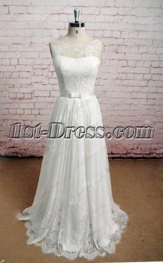 2016 Cheap Vintage Lace Wedding Dress