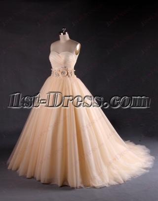 Beautiful Sweetheart Champagne Wedding Dresses