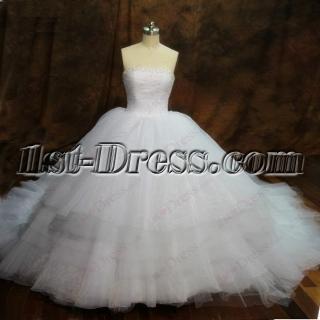 Exquisite Puffy Ball Gowns Wedding Dress 2016
