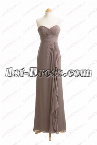 Pretty Brown Sweetheart Prom Dresses