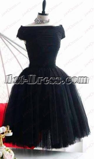 Sweet Off Shoulder Little Black Dress