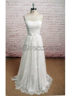 2016 Cheap Vintage Lace Wedding Dress