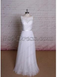 Beautiful Simple Lace Wedding Dress