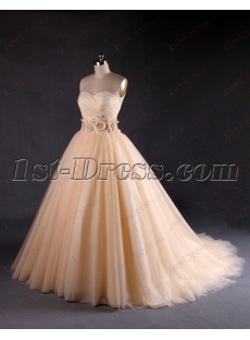 Beautiful Sweetheart Champagne Wedding Dresses