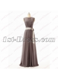 Brown Vintage Evening Dress with Sash