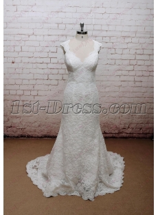 Charming Sheath Lace Bridal Gown with Keyhole