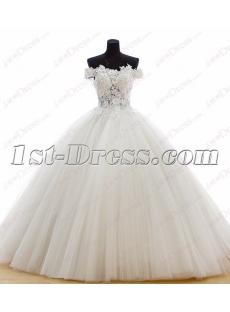 Princess Off Shoulder 2016 Ball Gown Wedding Dress