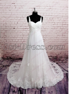 Romantic Empire Lace Pregnant Wedding Gown