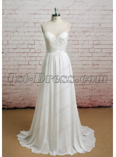 Simple Casual A-line Wedding Dress