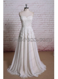 Simple Lace A-line Wedding Dress 2016