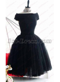Sweet Off Shoulder Little Black Dress