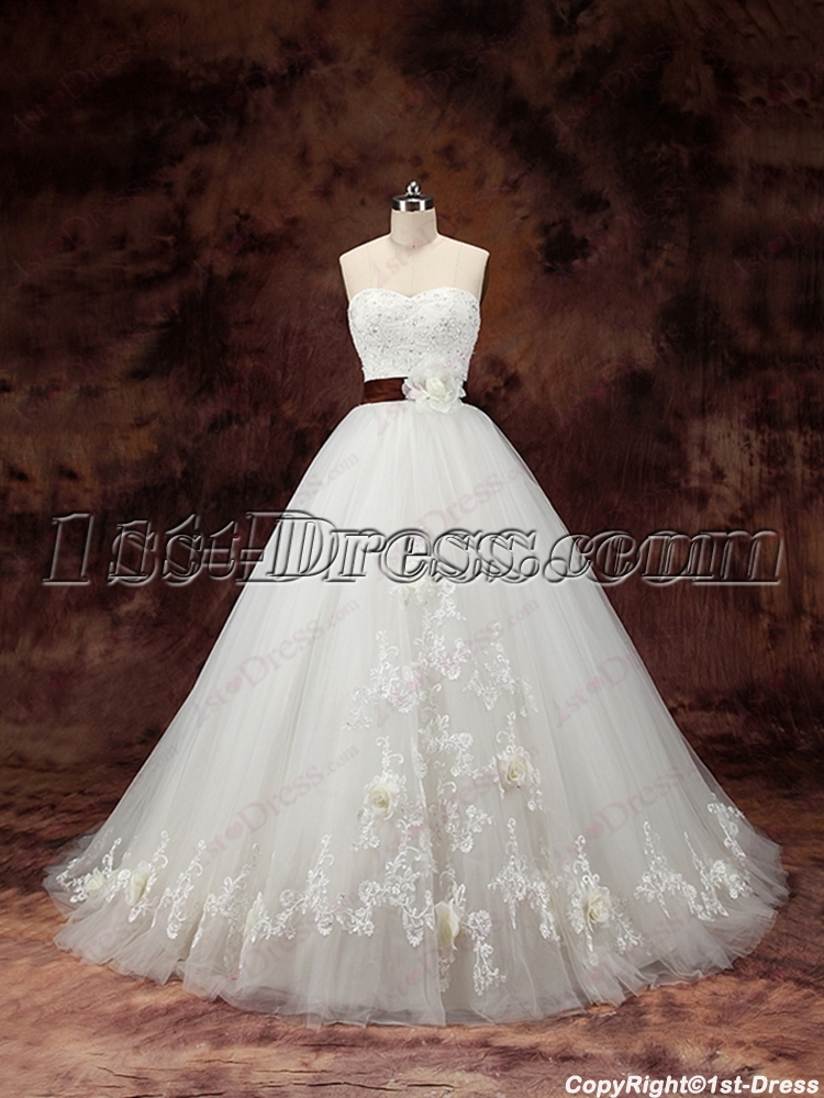 2016 beautiful princess ball gown wedding dresses 1st for Pretty ball gown wedding dresses