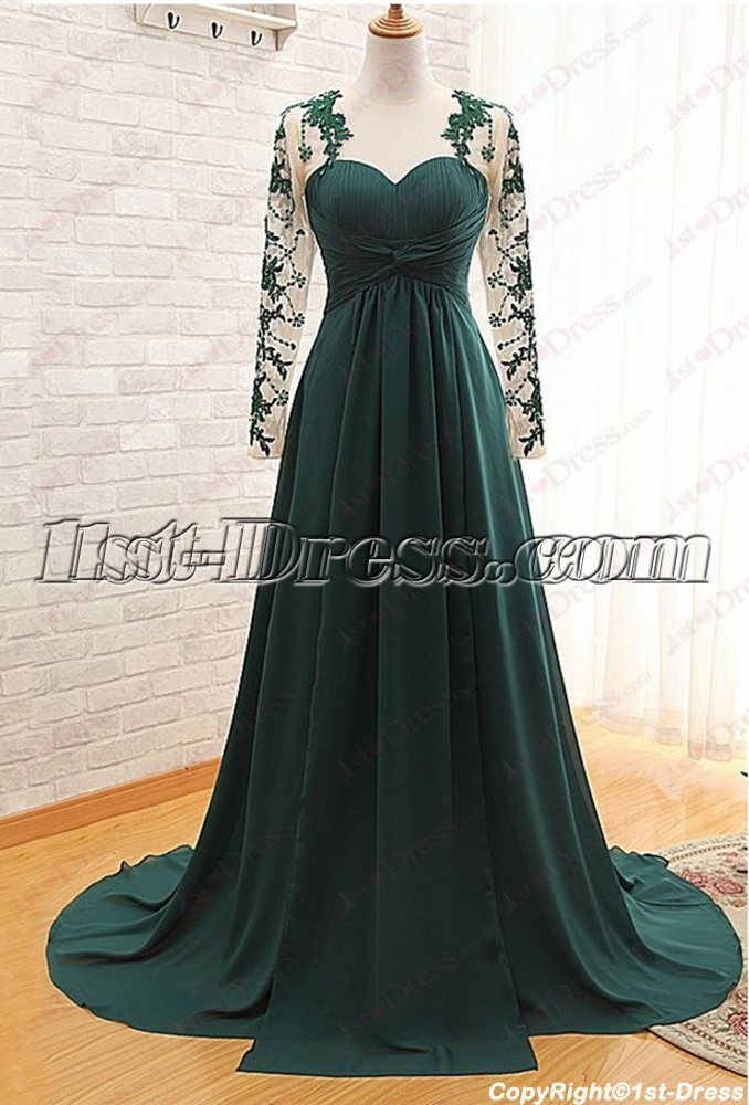 Hunter Green Long Sleeve Dress