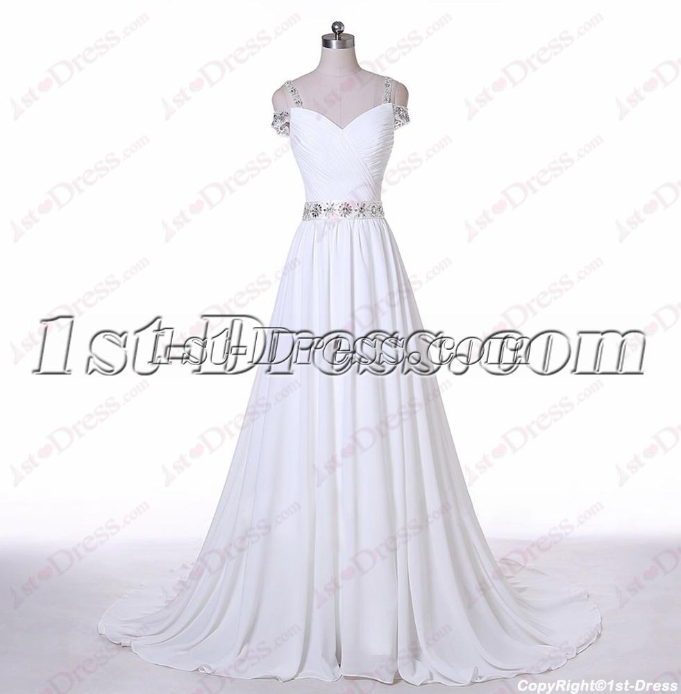 Romantic Off Shoulder Beach Wedding Dress1st Dress