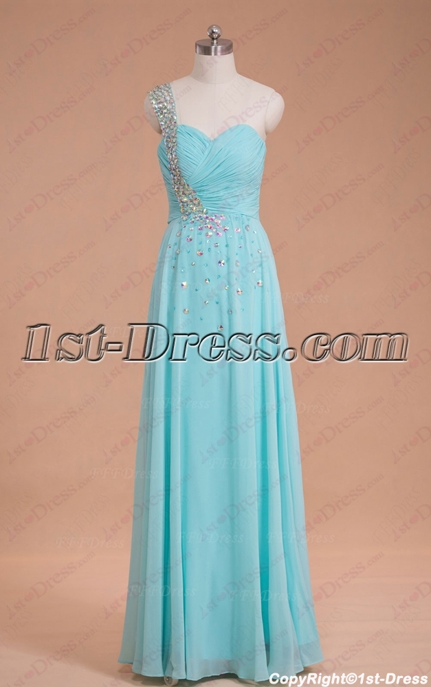 Romantic One Shoulder Graduation Party Gown