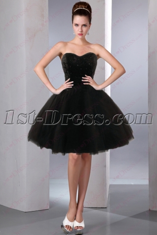 All Black Sweet 16 Court Dresses