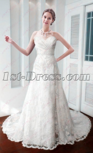 Beautiful Lace A-line Wedding Dress 2016