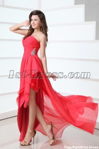 Charming Asymmetric Skirt Chiffon One Shoulder Homecoming Dress