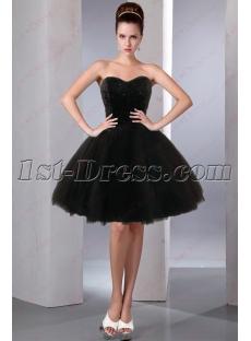 All Black Sweet 16 Court Dresses