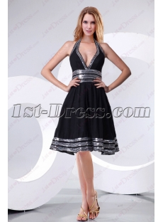 Beautiful Halter Black Homecoming Dress