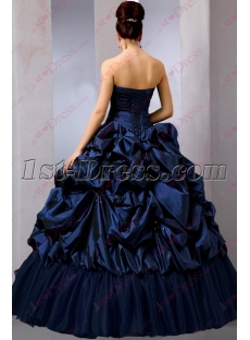 Beautiful Navy Blue Puffy Sweet 15 Gown 2016