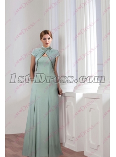 Modest Sage Mother of Groom Dress