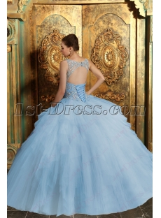 Romantic Illusion Quinceanera Dresses 2016 with Keyhole