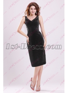 Simple Sequins Little Black Dress