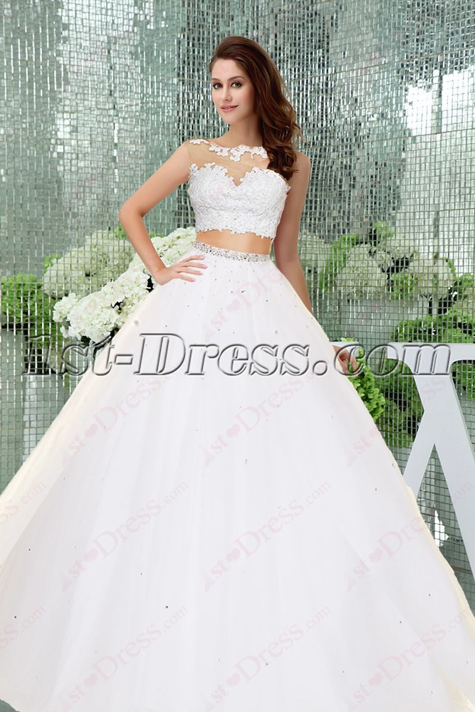 1855f7fd2518 Fantastic 2 Pieces White Quinceanera Dress 2016:1st-dress.com