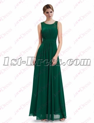 Elegant Green Long Mother of Bride Gown