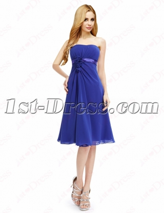 Elegant Royal Blue Short Prom Dresses Cheap