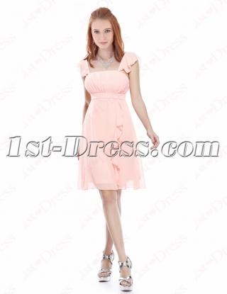 Lovely Cheap Pink Strapless Chiffon Short Homecoming Dress