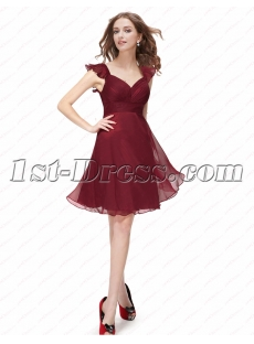 Cute Burgundy Short Homecoming Dresses