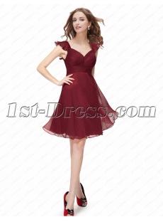 Cute Burgundy Short Homecoming Dresses