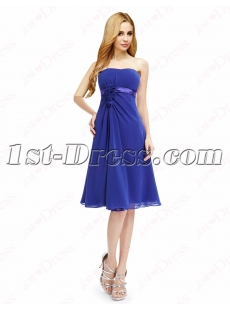 Elegant Royal Blue Short Prom Dresses Cheap