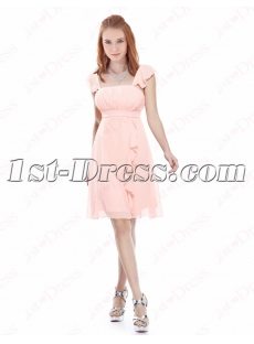 Lovely Cheap Pink Strapless Chiffon Short Homecoming Dress