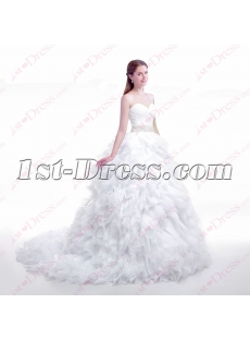 Luxurious Sweetheart Ruffles Ball Gown 2016