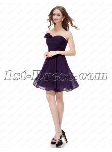 Simple Purple Cocktail Dresses for Juniors