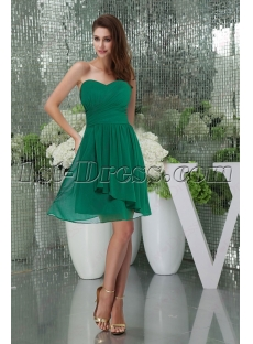 Sweet Green Chiffon Short Homecoming Gown