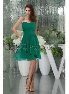Sweet Green Chiffon Short Homecoming Gown