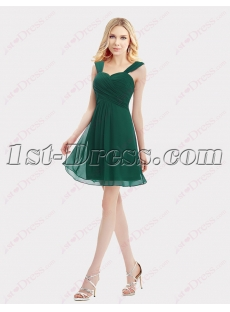 Sweet Straps Green Cocktail Dresses for Juniors
