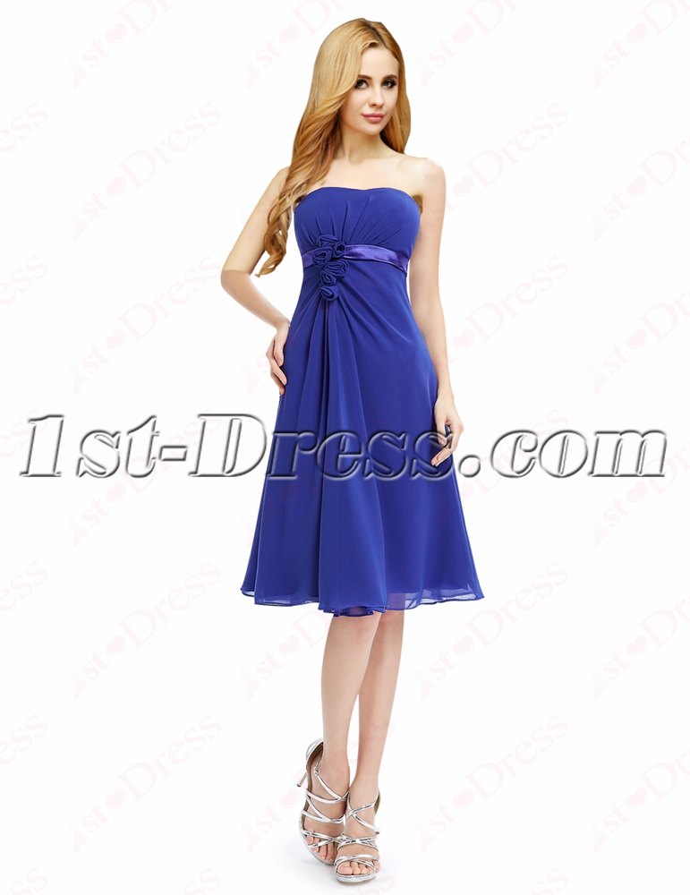 Elegant Royal Blue Short Prom Dresses Cheap:1st-dress.com