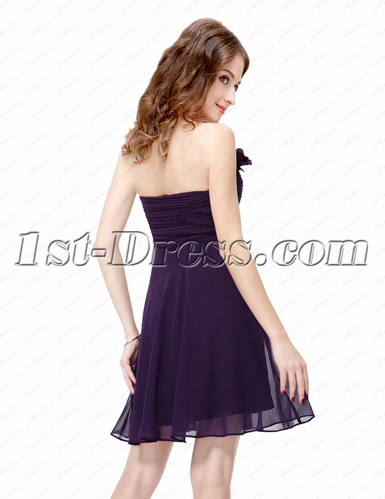 Simple Purple Cocktail Dresses For Juniors1st Dress
