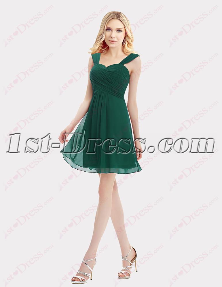 Sweet Straps Green Cocktail Dresses For Juniors1st Dress