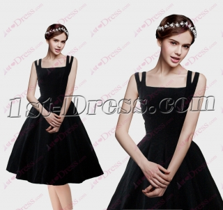 Classic Black Short Cocktail Dress