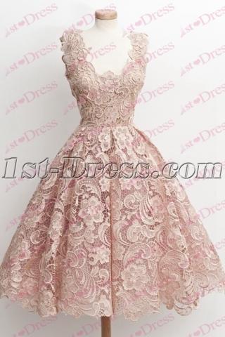 Elegant Lace Short Bridal Gown