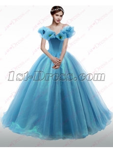 2016 Off Shoulder Blue Quinceanera Dresses
