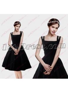 Classic Black Short Cocktail Dress