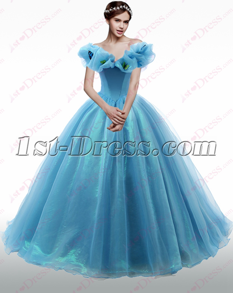 2016 Off Shoulder Blue Quinceanera Dresses:1st-dress.com