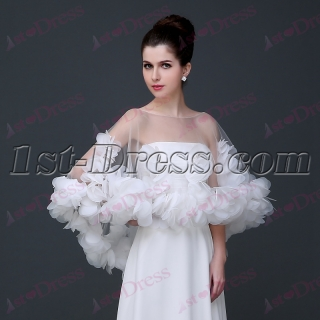 Romantic Short Wedding Cape